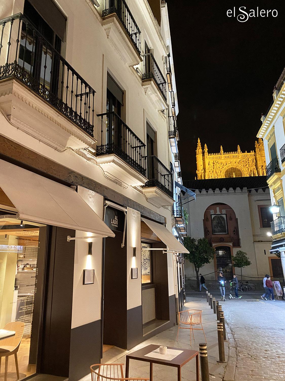 Fachada del Restaurante Al Lado by Paco Pérez, Sevilla. Foto: El Salero